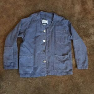 Zara blue linen jacket